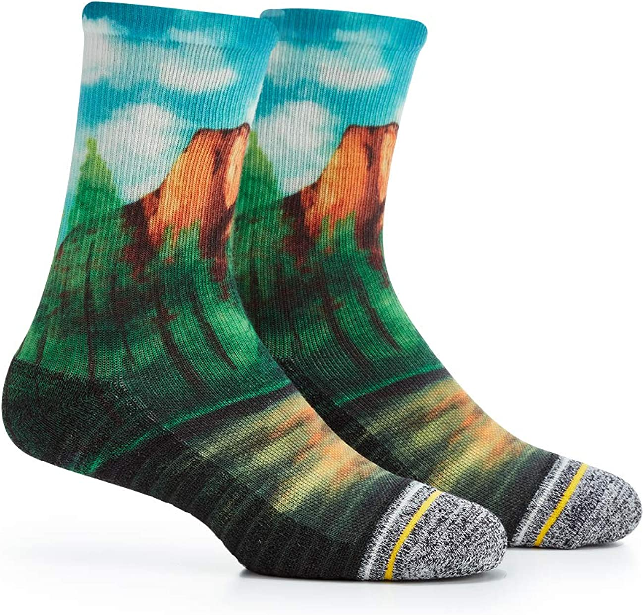 APRIME ECO-CAFE Crew Cushion Outdoor Socks Made from Coffee Grounds for Hiking, Trail Running, Climbing and Cycling