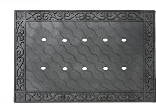 """Toland Home Garden 850100 Recycled Rubber Holder Doormat Tray, 24"""" x 36"""", Mat Accessory"""