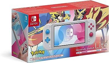 Nintendo Switch Lite - Consola Edición Zacian y Zamazenta, (Lite) - Gris (Ed. Pokémon), Edición Limitada