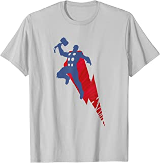 Marvel Avengers Game Thor Mjolnir Silhouette Camiseta