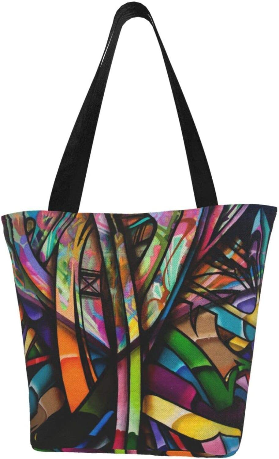 AKLID Black Colored Graffiti Extra Large Milwaukee Mall Resistant Water Canvas Sale Special Price