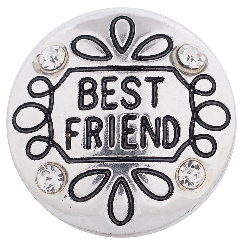 My Prime Gifts Interchangeable 18mm Snap Jewelry Best Friend Rhinestone by