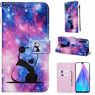 CRABOT Funda para Xiaomi Redmi Note 8T Cover Case Ranura para Tarjeta Billetera Patrón de en 3D Hebilla Magnética Cubierta...