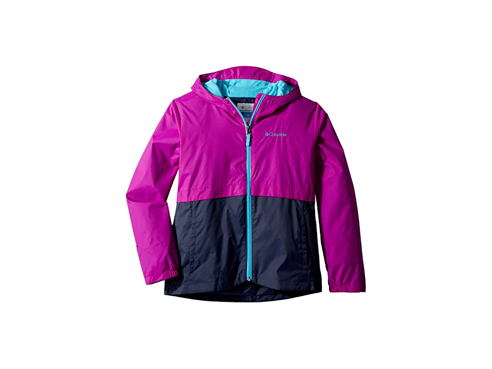 Columbia Kids Rain-Zillatm Jacket (Toddler) (Bright Plum/Nocturnal/Atoll) Girl