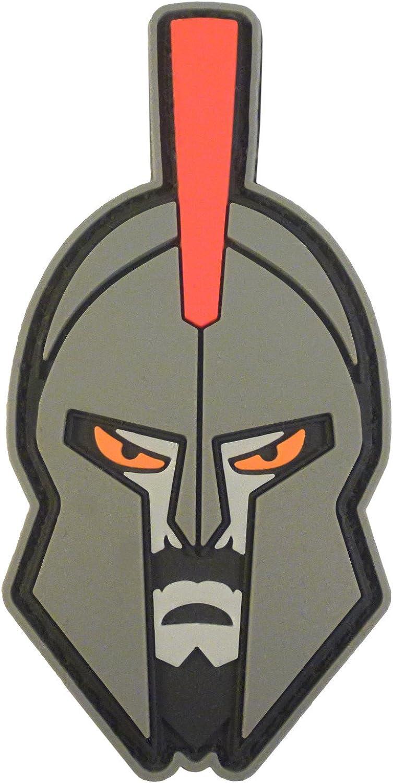 Spartan Helmet Warrior Molon Labe Morale Tactical PVC Rubber 3D Hook&Loop Patch