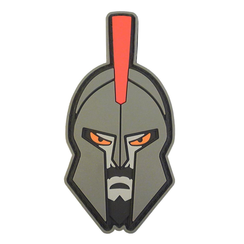 LEGEEON Spartan Helmet Warrior Molon Labe Morale Tactical PVC Rubber 3D Hook&Loop Patch