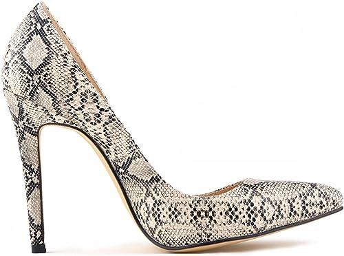 MKHDD Zapato de Vestir de tacón Alto con tacón Alto y tacón Alto para mujer