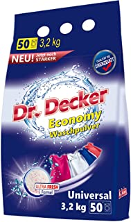 DR DECKER Universal (50 prań), Proszek do Prania Kolorów i Białych Tkanin, Oxygen System Usuwa Plamy, Żywe Kolory Po Wielu...