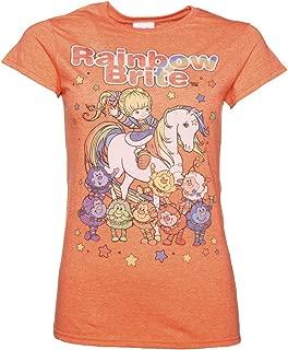 Womens Orange Rainbow Brite and Sprites T Shirt - 80s Cartoon Tees