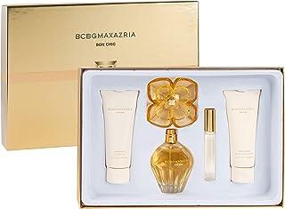 BCBG Bon Chic Gift Set 4pc (100ml EDP + 100ml Body Lotion + 100ml Shower Gel + 10ml EDP) - Rigid Box