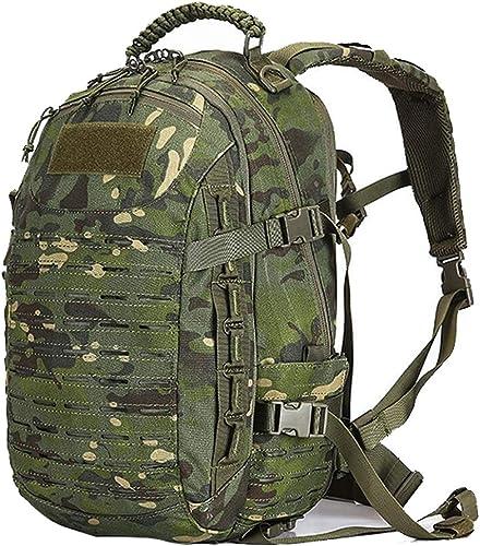 Sac à Dos Tactique de Camouflage, 25L épaule extérieure Multifonction Imperméable Léger Grande capacité Randonnée Randonnée Vélo Sac à Dos Montagne Hommes et Femmes Camouflage Casual Sac à Dos