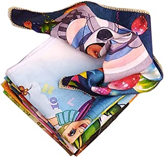 fe81a0a51938 ZARA Multi Color & Print Very Soft Women Cotton Face Towels/Hankeys - 12 pcs