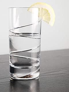 Barski - European Quality Crystal Glasses - Set Of 6 - Hand Cut Crystal - Highball Tumblers - Each Hiball Tumbler Glass is 14 oz. - Made in Europe
