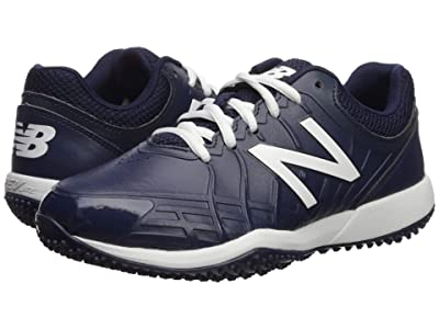 New Balance Kids 4040v5 Turf Baseball (Little Kid/Big Kid) (Navy/White) Kids Shoes