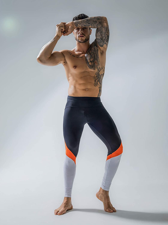 Yoga Workouts YENYEE Mens Tight Pants Nylon Long Base Layer Cool Dry Leggings for Running