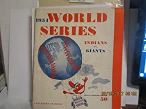 1954 World Series Cleveland Indians vs New York Giants Baseball program