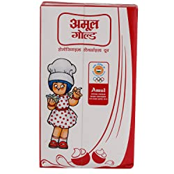 Amul Gold Milk - Homogenised Standardised, 1L Carton