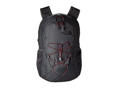The North Face Jester Backpack (Asphalt Grey Light Heather/Deep Garnet Red) Backpack Bags