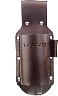 TAGVO Beer Holster, Leather Classic Beer Holster Bottle Holders - Brass Whistle Bottle Opener Included