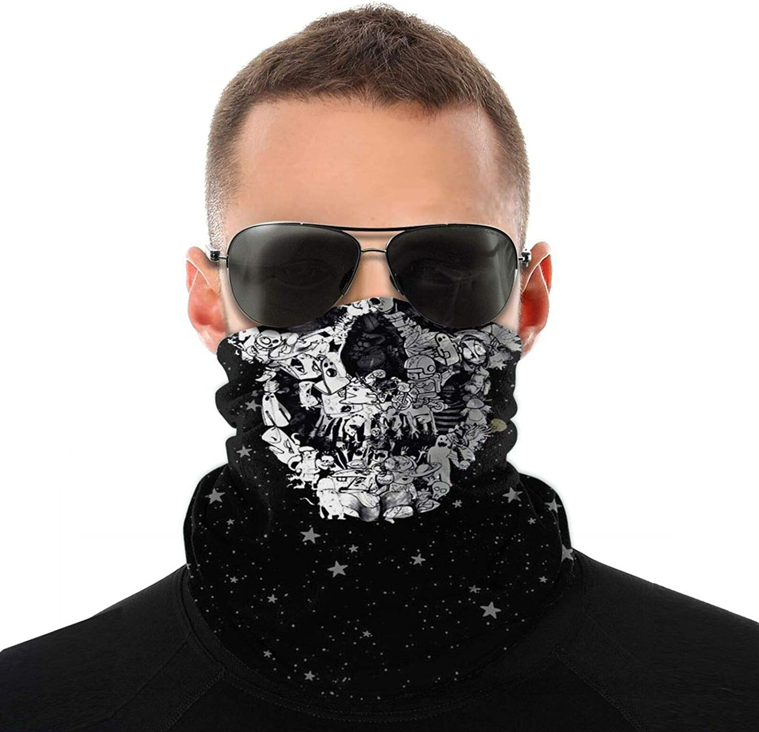 """Neck Gaiter with Elastic Band, Machine Washable 20"""" x 10"""" Neck Warmer UPF 50+ Face Bandanas for Hiking, Fishing and Cycling"""