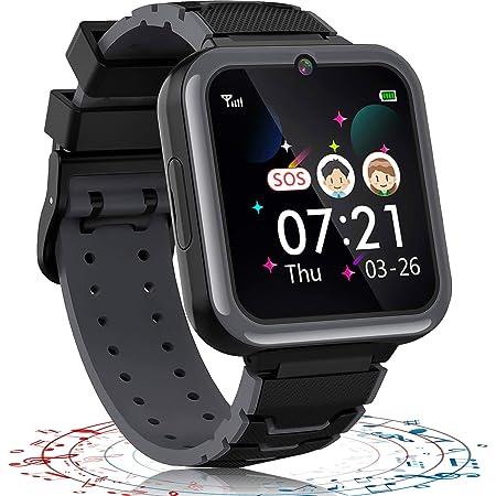 Montre Connectée Enfant 7 Jeux-MP3 Montre Intelligente pour Enfants, SOS Appels Téléphoniques Écran Tactile Lampe de Poche Enfant Smartwatch pour Fille Garçon