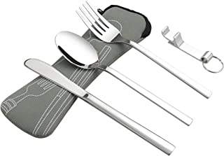 Doryh Stainless Steel Lunch Cutlery Set, Knife Fork Spoon, 6 Pieces