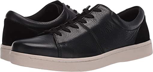 Black Leather/White Outsole