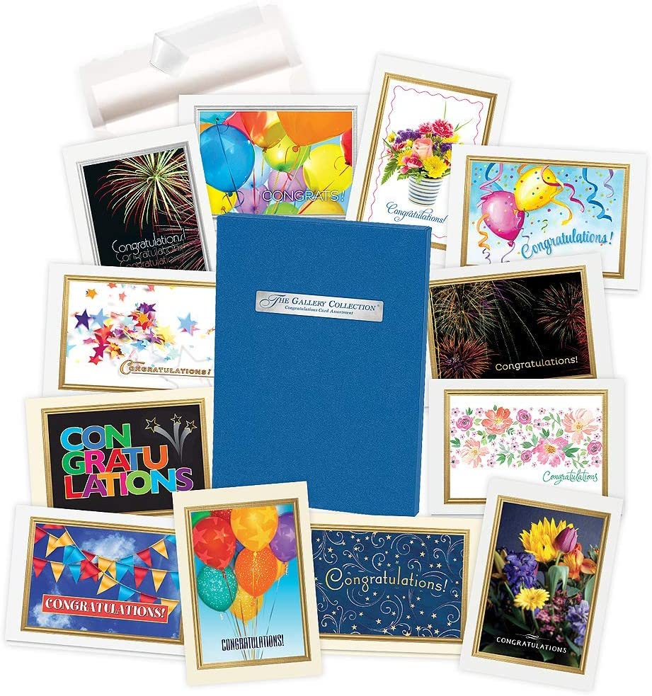 Congratulations Cards Assortment Minneapolis Mall Box with free shipping - 35 Greeting
