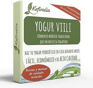 Fermento de Yogur Viili (Reusable de forma ilimitada) + Instrucciones + Recetas + Ayuda y asesoramiento en español - KEFIRALIA®
