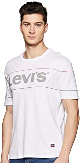 Levi's Men's Printed Regular fit T-Shirt (83498-0000_White_XL)