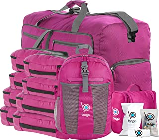 Bago Travel Bag Set for Family - Light & Foldable Duffle Backpack Cubes Toiletry
