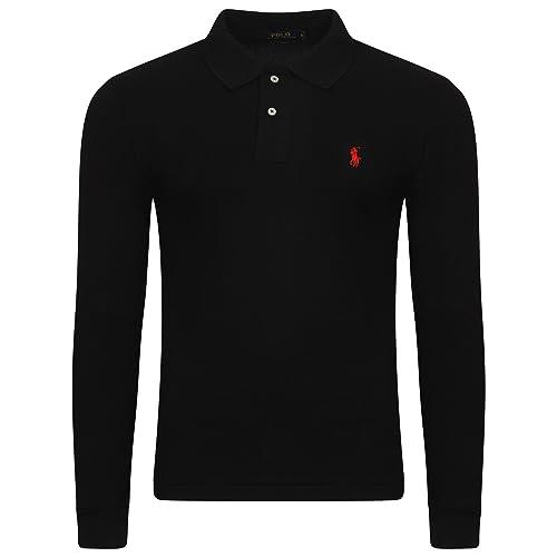 653524044926 Ralph Lauren . Men s Polo Shirt. Long Sleeve. Small Pony. Custom Fit