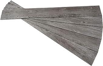 ROSEROSA Peel and Stick PVC Planks Durable Vinyl Flooring Tiles (5 Planks : 91.4cm X 10.1cm) (ECK-803-5Planks)