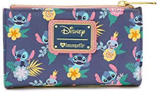 Disney's Stitch And Scrump Floral Bi-Fold Wallet