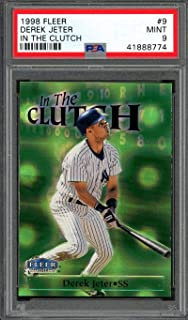 9d033a7581e 1998 fleer in the clutch  9 DEREK JETER new york yankees PSA 9 Graded Card