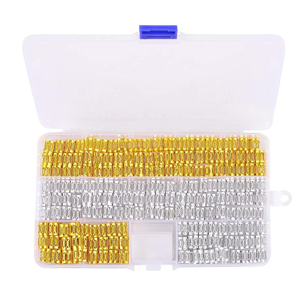 200 Pieces Hair Cuffs Dreadlocks Beads Adjustable Aluminum 8mm Braid Accessories Braiding Hair jewelry for braids (Silver and Golden) by Messen