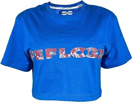 d3f7d88b3badb6 Feflogx Sportswear Damen Crop-Top Basic   Hochwertiges Damen-T-Shirt  gekürzt