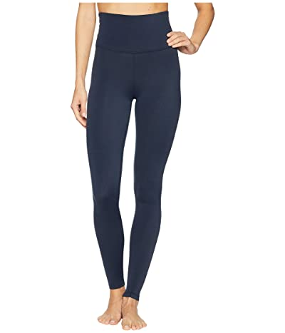 Beyond Yoga Plush High Waisted Long Leggings (Nocturnal Navy Heather) Women