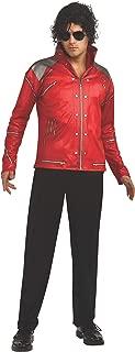 Rubie's Men's Michael Jackson Value Beat It Red Zipper Costume Jacket