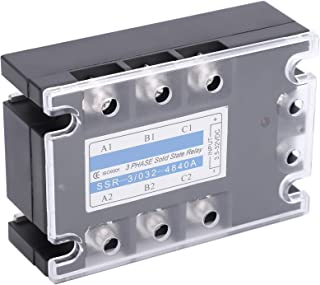 Relay, Durable Practical DC-AC Solid State Relay 3 Phase Solid State Relay, Textile Machinery Packaging Machinery for Food...