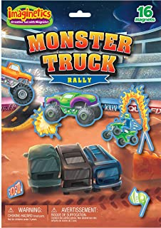 Imaginetics Monster Truck Rally Playset – Includes 16 Magnets