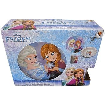 Set desayuno 3 piezas en caja regalo de Frozen