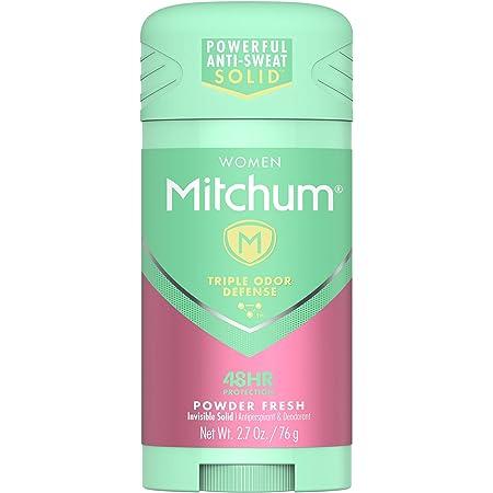 Mitchum Women Stick Solid Antiperspirant Deodorant, Powder Fresh, 2.7 Ounce (Pack of 1)