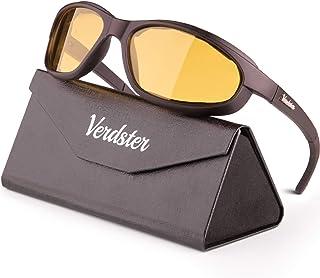 Verdster - Verdster Airdam – Gafas de Sol Polarizadas para Hombre para Moto – Protección UV, Diseño Cómodo Envolvente con Almohadillas de Espuma – Ideal para Motocicleta