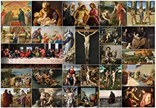 wall26 Peel and Stick Wallpapaer - Bible Stories Christian Paintings Collage| Removable Large Wall Mural Creative Wall Decal - 100x144 inches