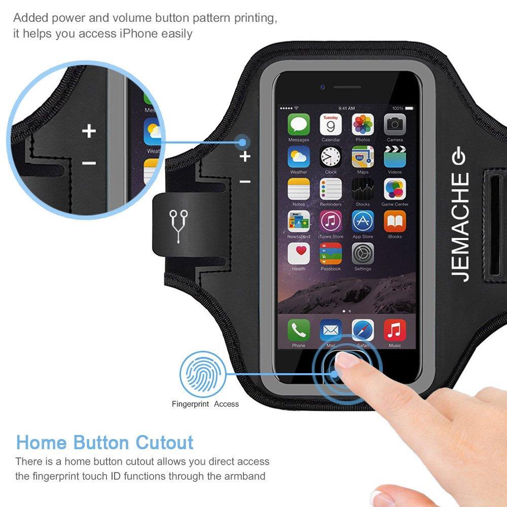 JEMACHE Brazalete para iPhone 7/8, Dactilares Touch Apoyo ...