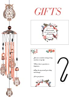 zhengshizuo Wind Chime Wind Chimes Outdoor Gifts for Mom Gift Windchime Windchimes Garden Decorations Outdoor Patio Decorations Outdoor with S Hook Hooks Indoor and Outdoor Owl Wind Chimes