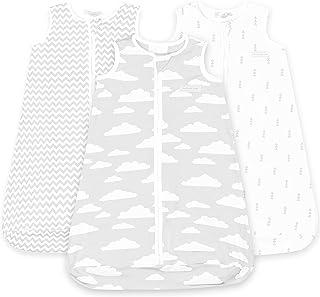كيس نوم للأطفال - أكياس نوم للرضع من 6 إلى 12 شهرًا - 3 عبوات - بطانية قطنية قابلة للارتداء - حقيبة أطفال بسحاب للجنسين لل...