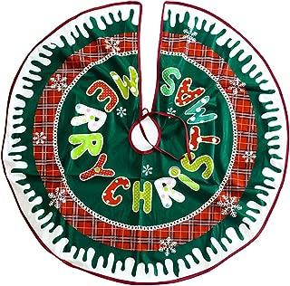 Vi.yo Falda de decoración para árbol de Navidad Falda del árbol de Navidad de la Historieta del paño de la Letra 90cm