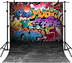 Graffiti Vinyl Background 80's 90's Themed Birthday Party Decoration Hip Hop Photography Backdrop Customized Photo Background Studio Props PHMOJEN 5x7ft GEPH034
